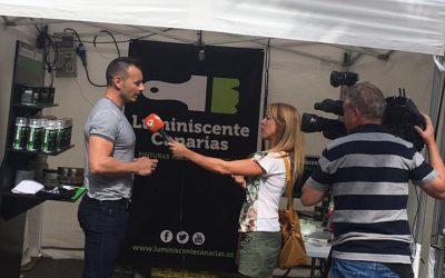 Entrevista para Antena 3 sobre nuestra marca Luminiscente Canarias