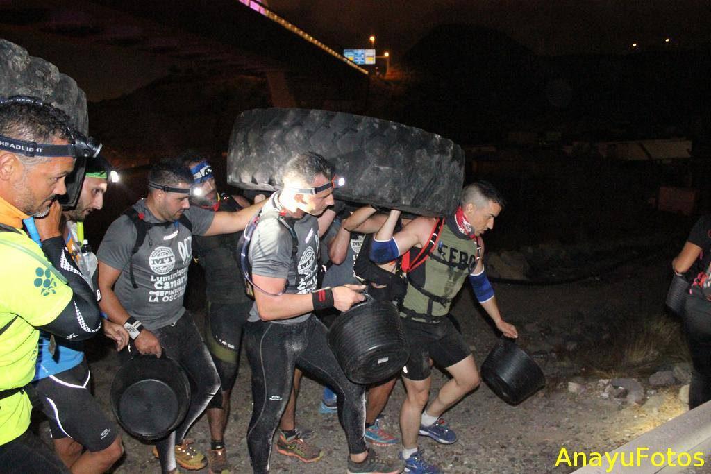 Equipo de obstáculos esponsorizado por Luminiscente Canarias