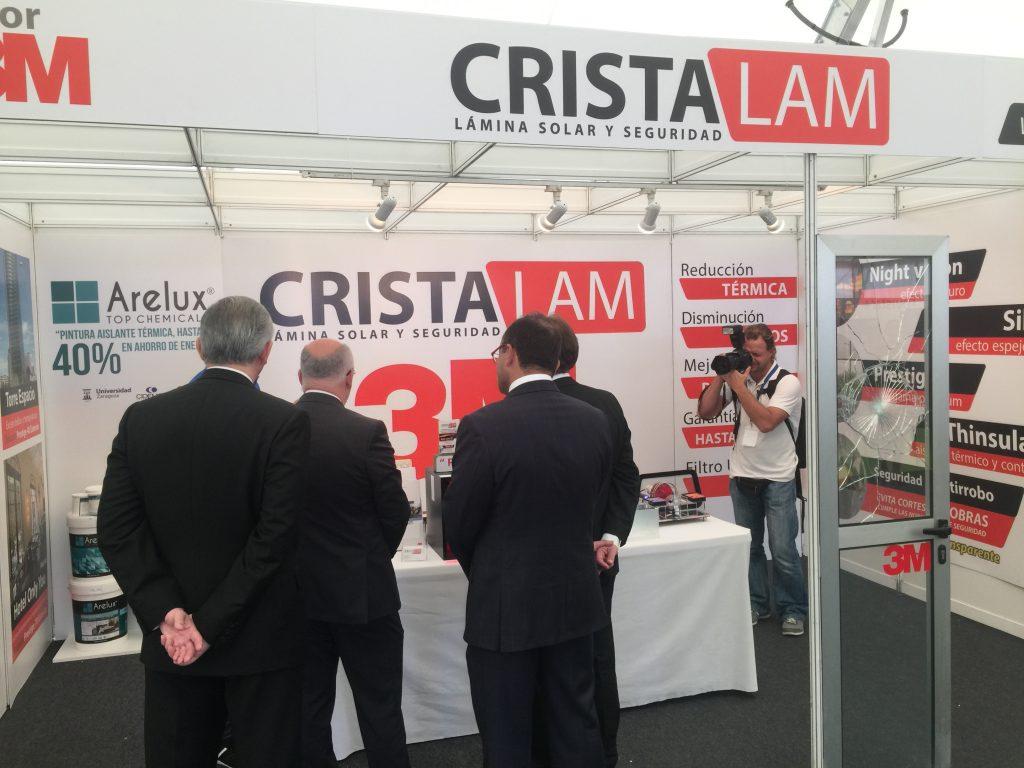 El Presidente del Cabildo de Gran Canaria Antonio Morales en la visita a nuestro stand de Cristalam en la Ferie Internacional del Atlántico