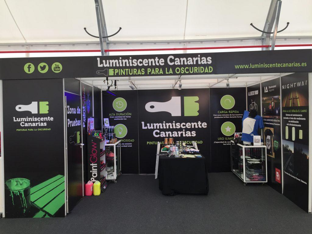 Stand Luminiscente Canarias en la Feria Internacional del Atlántico en Las Palmas
