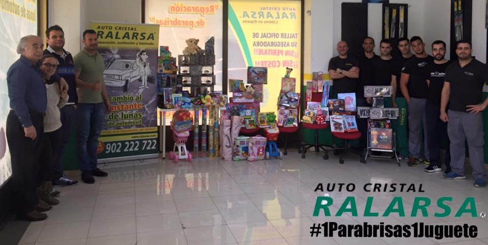 Recogida de juguetes solidaria en Navidad por Ralarsa