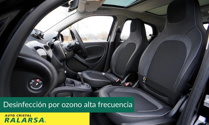 Desinfección por ozono para interior del coche