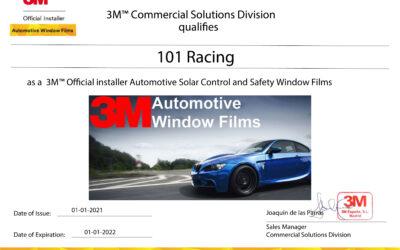 Renovación Certificado 3M para 101Racing