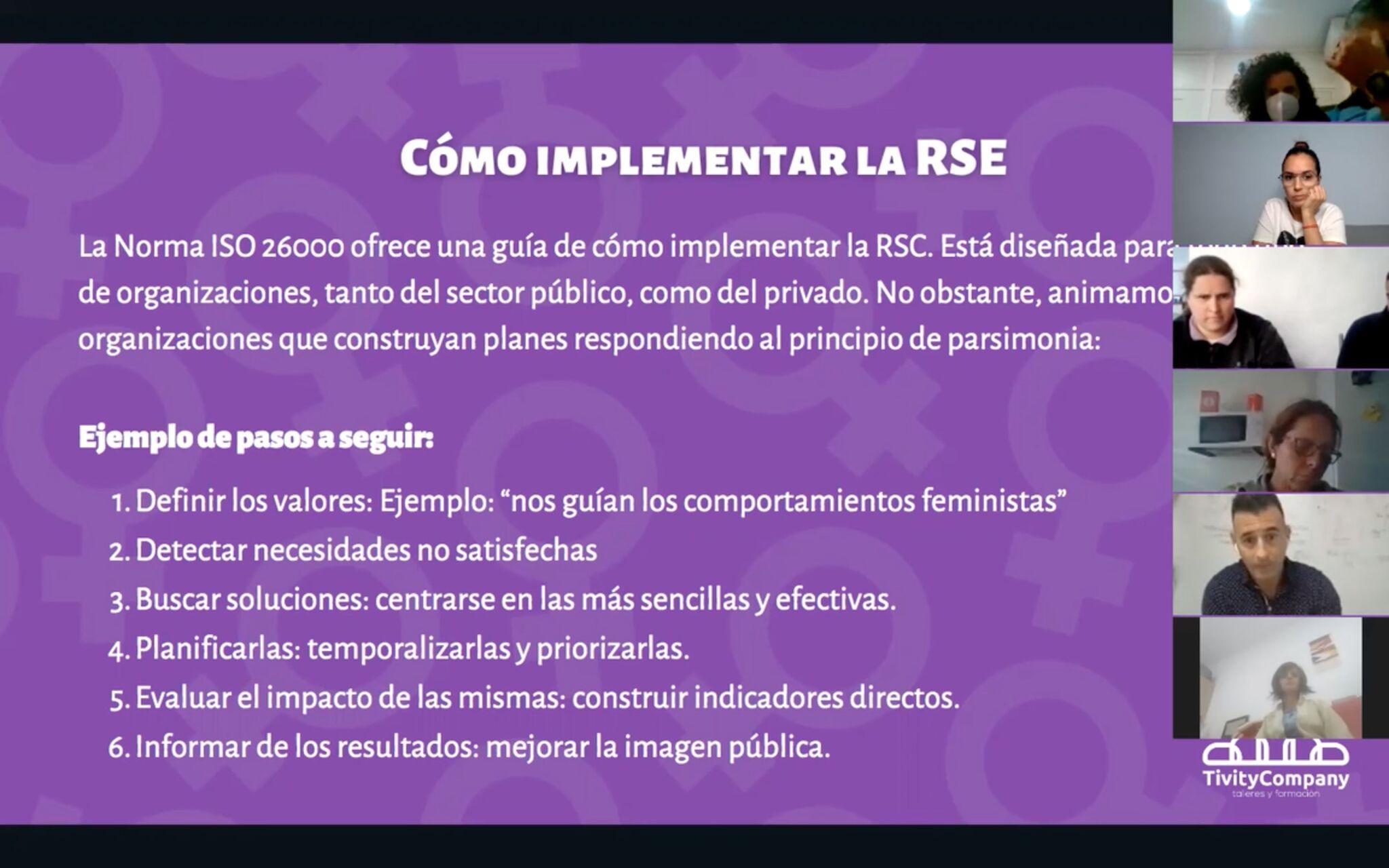 Tivity Company formación en igualdad para Ayto Artenara