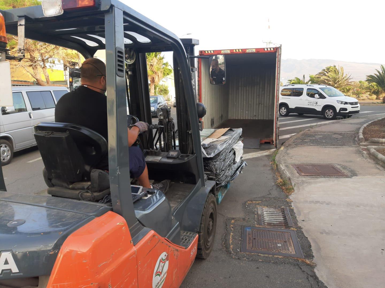 Ecobrisas reciclaje vidrios automóviles Arinaga